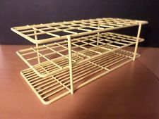 BEL-ART Yellow Epoxy-Coated Wire 40-Position 18-20mm Test Tube Rack Holder
