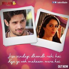 Ek VIllain Love Hurts Quotes, Hurt Quotes, Happy Quotes, Bollywood Movie Songs, Bollywood Quotes, Song Lyric Quotes, Movie Quotes, Star Quotes, Famous Dialogues