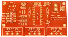 Function Generator with PCB - Function Generator, Volt Ampere, Electronic Kits, Diy Electronics, Circuit, Audio