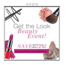Its our #beauty event sale! Get items up to 72% off! Now that's a deal! www.youravon.com/joylehman