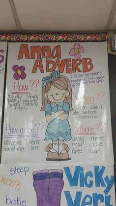 Anna Adverb Anchor Chart … More More