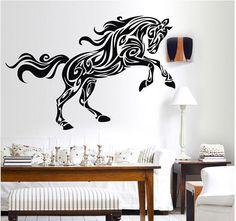 Cavalo Adesivo De Parede Decoração Animais De Autocolantes De Parede Removível De Decoração Mural