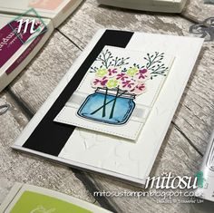 Card Making and Papercraft Class Project with our Basingstoke Craft Group. Using Jar of Love Stamp Set, Everyday Jars Framelits and other Stampin' Up! products. Order current Stampin' Up! craft supplies from Mitosu Crafts UK Online Shop 24/7