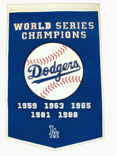 """Los Angeles Dodgers 24""""x36"""" Wool Dynasty Banner"""