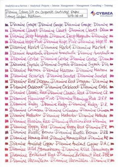 "Page 1 of 7 - All Diamine Inks Compared - posted in Ink Comparisons: There are currently (August 2013) one hundred colours available in the standard series from Diamine. Below I have written one line with each colour first on low-absorbent paper (Rhodia No 18 dotpad) and second on normal absorbent paper (our corporate printer's stock ""cartridge"" paper). All lines are written with a medium Lamy Z50 nib on a Lamy Safari pen. Apologies for the corporate branding: I do..."