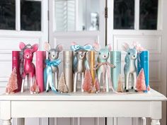 Canterbury classics word cloud classics in bold and pastel colors with vintage reindeer Christmas ornaments and pink bottle brush trees Reindeer Christmas, Christmas Ornaments, Canterbury Classics, Pink Bottle, I Am Sad, Bottle Brush Trees, Bookstagram, Home Decor Accessories, Pastel Colors