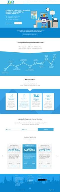 Amazing Homepage Design Needed for Brokers by tomplabs