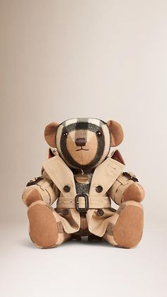 Camel Mr Trench Thomas Bear in Cashmere - Image 1