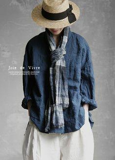 Fashion Moda, Womens Fashion, Funky Outfits, Mom Dress, Summer Outfits Women, Japanese Fashion, Comfortable Outfits, Indigo, Couture
