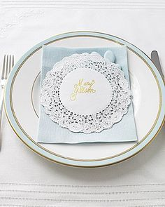 doily placecard