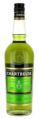 Chartreuse is a French liqueur made by the Carthusian Monks since the 1740s. It is composed of distilled alcohol aged with 130 herbal extracts. The liqueur is named after the Monks' Grande Chartreuse monastery, located in the Chartreuse Mountains in the general region of Grenoble in France. The liqueur is produced in a factory in the nearby town of Voiron. Chartreuse gives its name to the color chartreuse. It is one of the handful of liquors that continues to age and improve in the bottle.