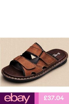 bc632f261 Hot Sale Mens Summer Shoes Sport Beach Sandals Open Toe Slip On Leather  Slippers