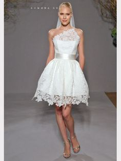 Romona Keveza Short Lace Bridal shower Dress - Vanessa would look so adorable in this!!