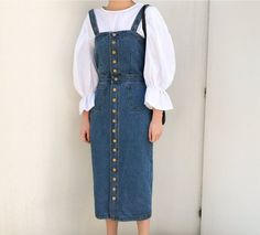 Jeans pinafore dress jeans buttoned dress jeans pinafore