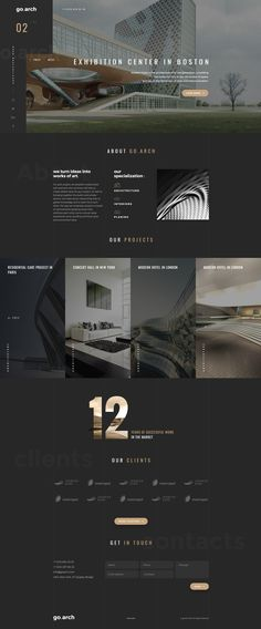 go.arch is a luxury, elegant and trendy template designed in two color styles: Dark & Light. You can be use it for a lot of websites, like architecture buerau, interior design, constructions, photographers and other corporate or creative websites.