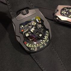 URWERK !!  URWERK UR-210 CP ( Altin Treated Steel )  Limited Edition 75pcs  Brand new  Complete set Box & Papers  Whatsapp 62.81.5515.1111 for price  Contact us for other URWERK Watches by timeofperfection