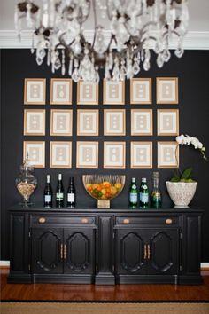 Benjamin Moore Black Satin wall color