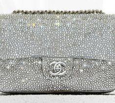 The Chanel 2012 classic flap bag in diamante goatskin