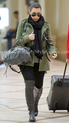Love, love, love!!!! - Kim Kardashian Stuart Weitzman Black 50/50 Boots November 2011