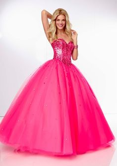 Ball Gown Sweetheart Tulle Floor-length Prom Dress(PD0565) perfect for prom