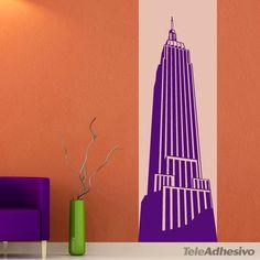 """Vinilo decorativo """"Empire State Building"""" #decoración #academia #inglés #ideas #vinilo  #TeleAdhesivo"""