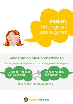 Poster: Pesten niet negeren, juist reageren!