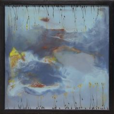 "Encaustic — Mel Rea :: Blocked In #7 :: 16""x16"""