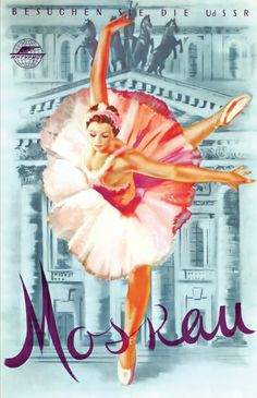Vintage Poster - French Ballerina Moscow - Dance