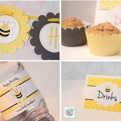 Bumblebee Birthday Party {free printables}