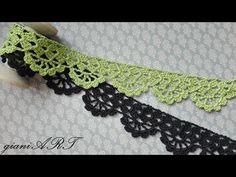 Complete any of your patterns in style with this crochet lace tape edging or border. This kind of lace border can be added to just about any project you'll Crochet Border Patterns, Crochet Skirt Pattern, Crochet Lace Edging, Lace Patterns, Crochet Designs, Crochet Yarn, Crochet Trim, Mandala Crochet, Crochet Afghans