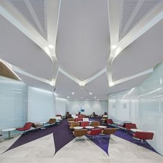 Tomnkin Zulaikha Greer Architects Virgin Lounge Floor and ceiling