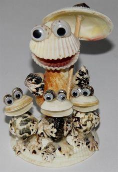 sea shell Kermit funny funky statue decor shells sculpture FIGURINE 1 pcs new  #Unbranded #Kermit