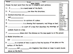 Geography Map Skill Worksheets: by mzat | Teachers Pay Teachers