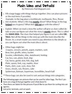 19 Ri3 2 Main Idea In 2021 Main Idea Teaching Main Idea 3rd Grade Reading