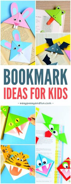 How to Make Corner Bookmarks + Ideas and Designs - Easy Peasy and Fun - How to Make Corner Bookmarks + Ideas and Designs – Easy Peasy and Fun Simple Bookmarks Ideas for Kids Easy Arts And Crafts, Arts And Crafts Projects, Diy Crafts For Kids, Projects For Kids, Easy Crafts, Art For Kids, Crafts Cheap, Craft Ideas, Kids Diy