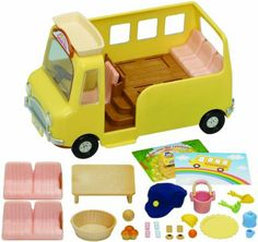 Baby Products EPOCH denfance Sylvanian Family 2634 Dolls House Accessory Bus Crèche
