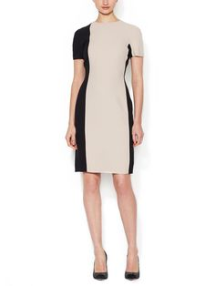 Dolman Sleeve Colorblock Sheath Dress by Martin Grant at Gilt