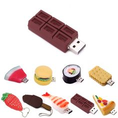 HDE 8GB Food Snack Dessert Shaped High Speed USB Flash Thumb Drive Memory Stick (Candy Bar) HDE