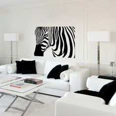Wall Decal Zebra  Vinyl Sticker Home Arts Animal Wall Decals Decor Africa Pattern WT015 on Etsy, $6.65 AUD
