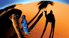 Experience the desert in style in Morocco, a Camel trek as you watch the sun setting over the desert!    http://www.moroccoaccessibletravel.com/