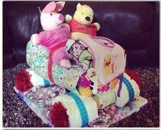 Girl four wheeler diaper cake