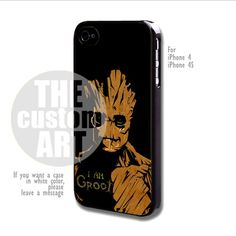 Guardian of The Galaxy I Am Groot - For iPhone 4 / 4s | TheCustomArt - Accessories on ArtFire