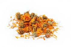"""Buy the royalty-free Stock image """"Herbs Dried calendula or pot marigold flowers isolated on"""" online ✓ All image rights included ✓ High resolution pictur. Wholesale Soap, Marigold Flower, White Background Images, Lotion Bars, It Goes On, Medicinal Herbs, Calendula, Sweet Almond Oil, Body Butter"""