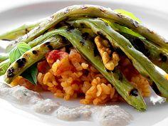 Tomatrisotto med grillade bönor (kock recept.nu)