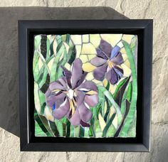 Iris Duo: Stained Glass Mosaic Wall Art by MaitriMosaics on Etsy