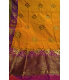 Yellow Handloom Banarasi Dupion Silk Saree