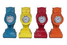 "10"" Owl Clocks, Asst. of 4 on OneKingsLane.com Assuming one wanted an owl clock why would you want a set of 4?"
