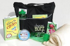 Chemotherapy Gift Tote - Black/Lime Green