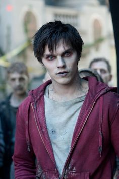 """""""R"""" in the movie version of Isaac Marion's novel """"Warm Bodies."""" I wish he was wearing his red tie and dress shirt!"""