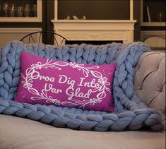 "Swedish ""Don't Worry Be Happy"" Premium Pillow by ScandiNordicDotCom on Etsy   ~ SCANDINORDICDOTCOM"